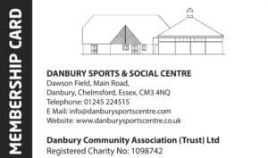 Danbury Sports and Social Club Membership Card